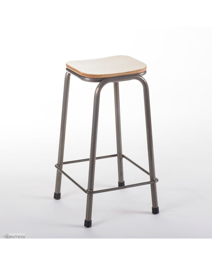 The school barstool in raw metal varnish or otherwise commonly known as the lab barstool is a new addition to Cintesi's range. Manufactured from a fully welded together, commercial grade, 2.00mm thick steel frame with a natural ply seat, this is a new must have. Commercial quantities in stock!