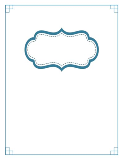 Click to Download Blank PDF Section Divider for Home Binder