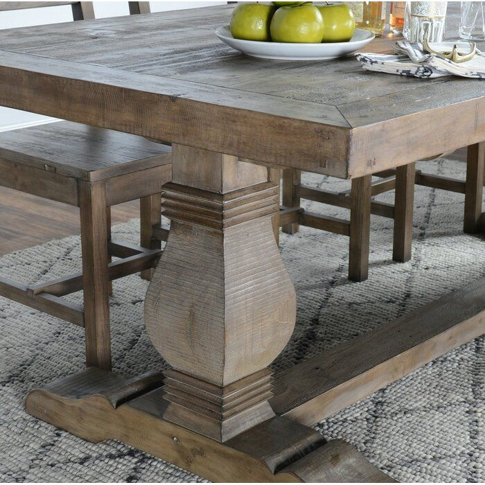 Gertrude Solid Wood Dining Table In 2020 Solid Wood Dining Table Dining Table In Kitchen Wood Dining Table