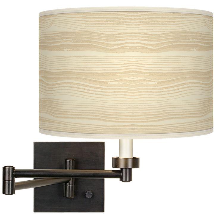 Birch Blonde Giclee Bronze Swing Arm Wall Light - Style # H6553-4T604