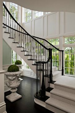 Oak Staircases With Iron Balusters Design Ideas, Pictures, Remodel and Decor