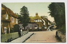 LETCOMBE NEAR WANTAGE POSTCARD 1909 OXFORDSHIRE TOMKINS & BARRETT