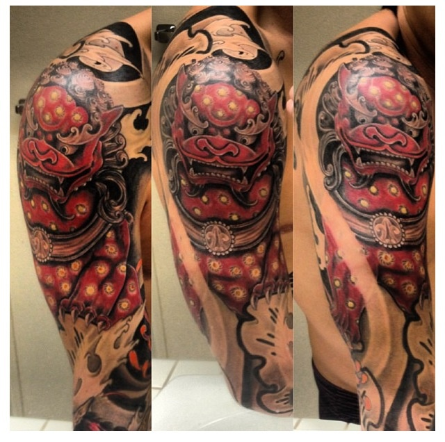 TattooRich Foo Dog  Color Realism Blk&ampGrey Pinterest And Dogs