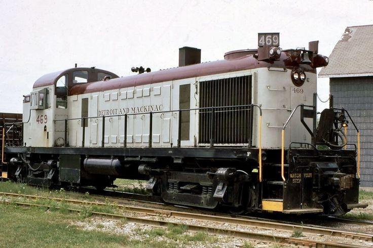 Detroit & Mackinac Railroad, Alco RS-2 diesel-electric Locomotive in Alpena, Michigan, USA
