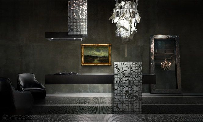 Luxury Kitchen For Businessman In Black Color Modern Design