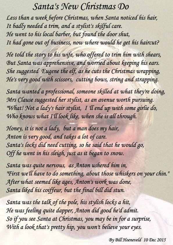 Santa's New Christmas Do - Holiday Poems