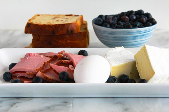 Ingredients for Breakfast Grilled Cheese recipe.