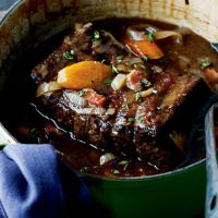 Slow-Cooked Silverside With Bacon And Guinness - Waitrose. Ideal to cook ahead - impossible to mess it up. Can be sliced back into the gravy to reheat when wanted. Also nice as cold meat - and leftovers make a lovely chunky lunchtime soup.