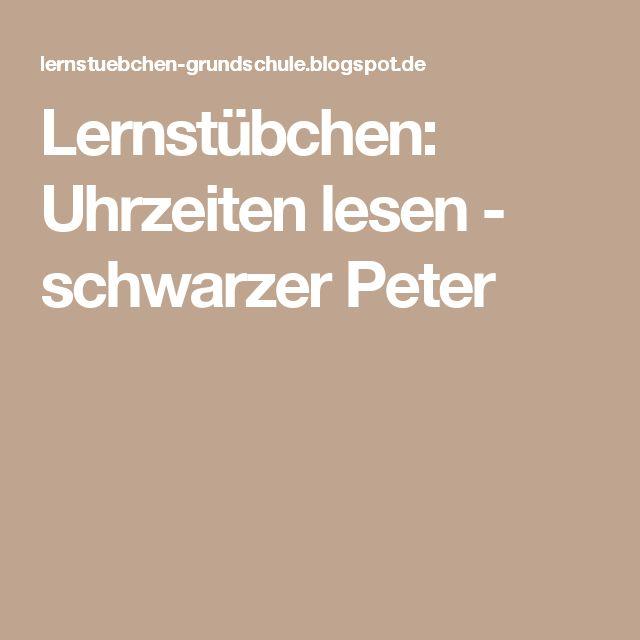 Lernstübchen: Uhrzeiten lesen - schwarzer Peter