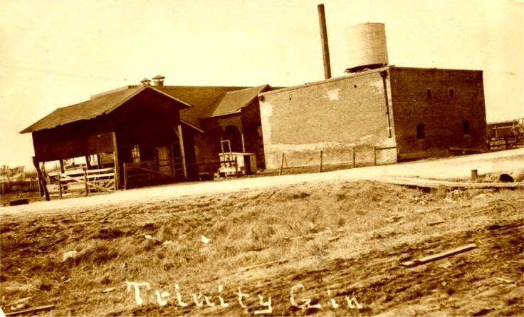 """Trinity Gin, Garland, Texas. 1919 Postcard with handwritten note on back, """"This is Garland, Texas"""". Exact location unknown."""