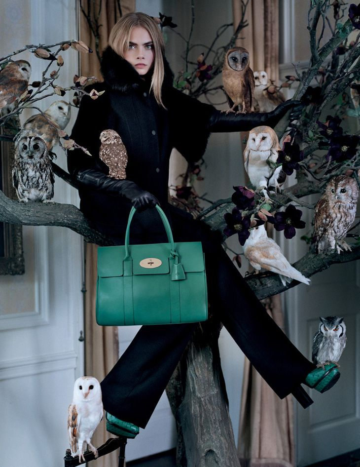 Cara Delevingne. Mulberry advertising campaign, F/W 2013/14.  Photo: Tim Walker.