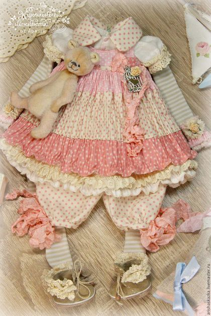 Одежда для кукол ручной работы. Комплект для куклы . Одежда для куклы…