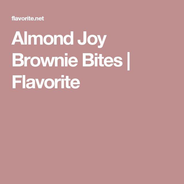 Almond Joy Brownie Bites | Flavorite
