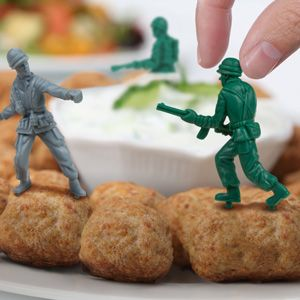 Food Fighters - Plastic Army Men Party Picks    $10 for dozen