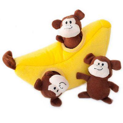 Zippy Burrow Pet Toy Monkey & Banana