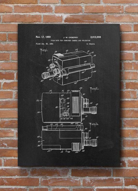 Retro Movie Camera Patent Movie Camera Print Projector by dalumna