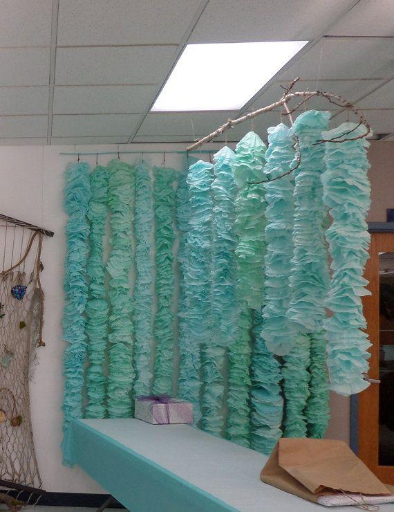 Dyed Coffee Filter Kelp~Seaweed~Beach Wedding~Mermaid~Pirate~Garland~ ·  Mermaid Party DecorationsMermaid ...
