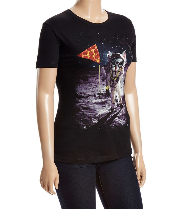 Look what I found on #zulily! Goodie Two Sleeves Black Astronaut Cat Tee - Plus by Goodie Two Sleeves #zulilyfinds