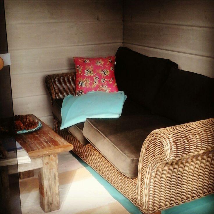 Outsise sauna dressing room