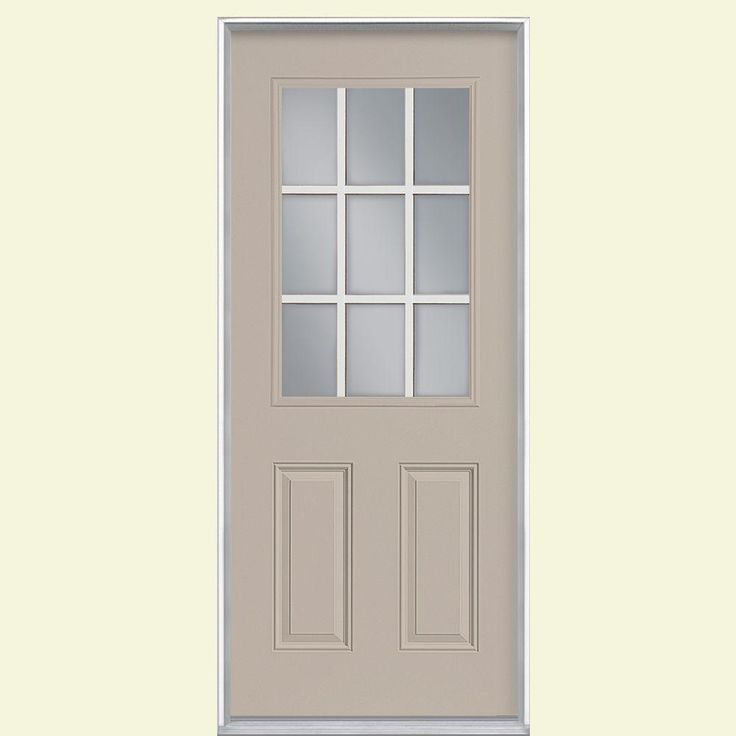 masonite 32 in x 80 in 9 lite view right on Masonite 32 In X 80 In Plantation Smooth Louver id=39818
