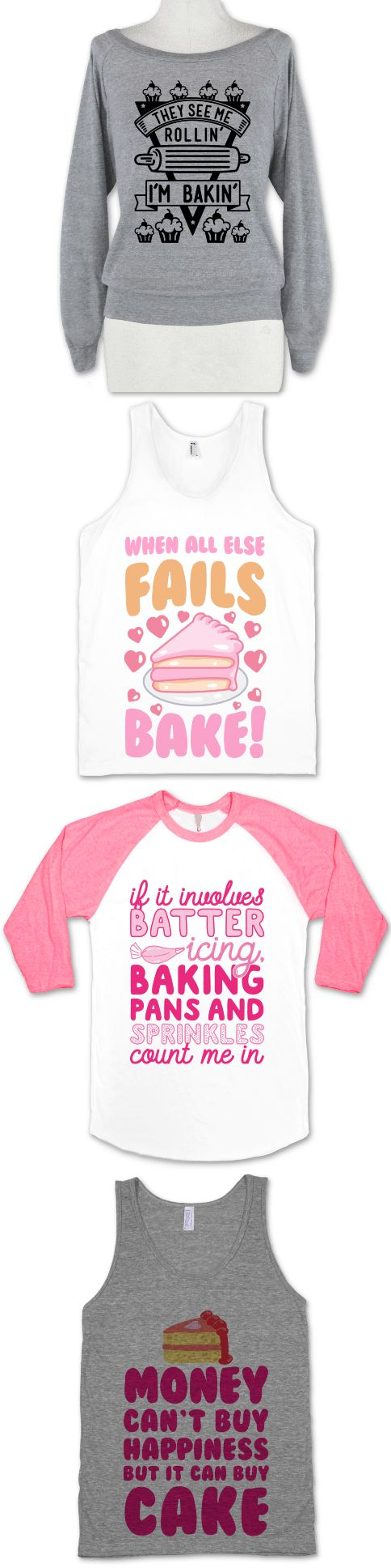 Show off your passion for baking with these super adorable baking and cake lovers shirts. Now go bake your heart out.