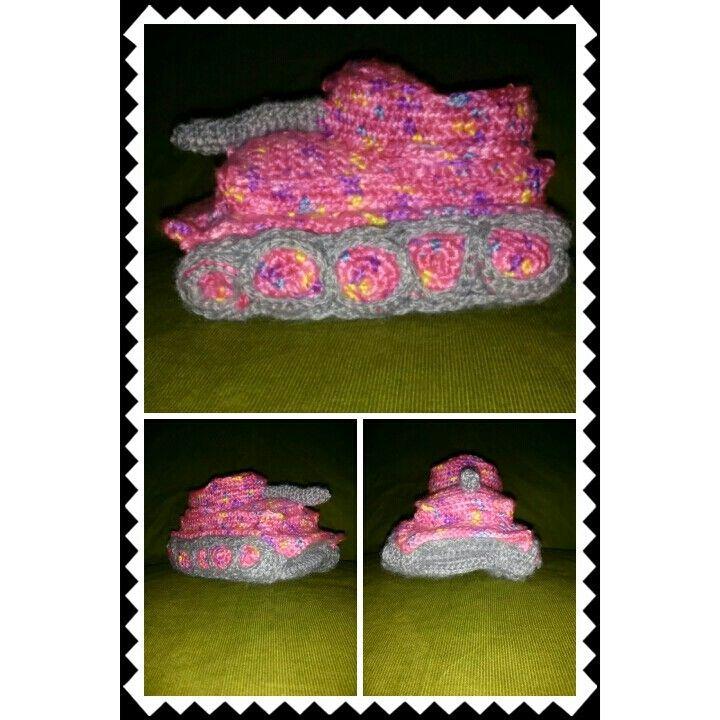 Free Crochet Pattern Tank Slippers Dancox For