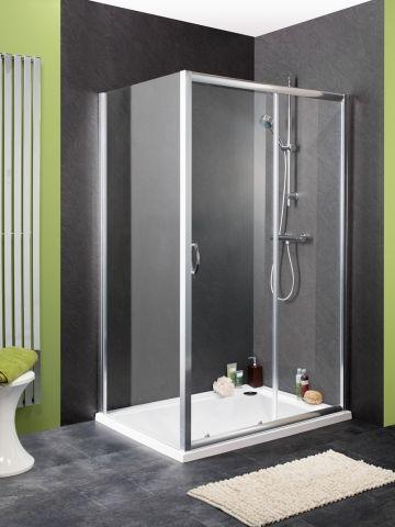 Hydrolux Natural 1200 x 760mm Sliding Door Shower Enclosure & Side Panel