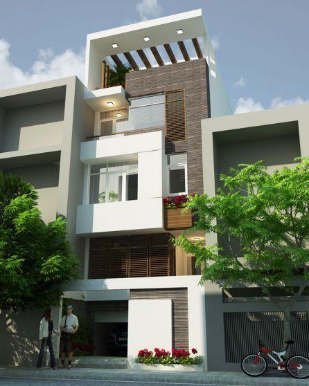 mẫu nhà phố đẹp kiểu dáng hiện đại--thiết kế 5