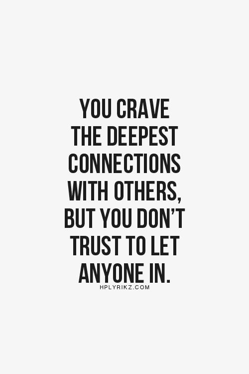 You crave the deepest connections with others but you don't trust to let anyone in #cancer #watersign