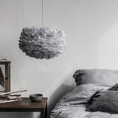 Aurora Vita Eos Feather Pendant Shades in Grey - View All Lighting - Lighting - Lighting & Mirrors