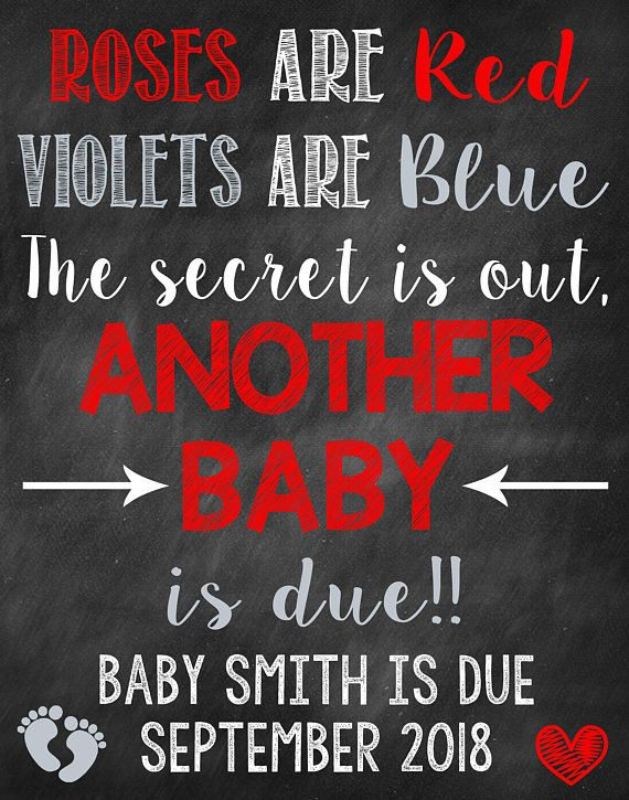 Roses Are Red Violets Are Blue Baby Announcement : roses, violets, announcement, Photo