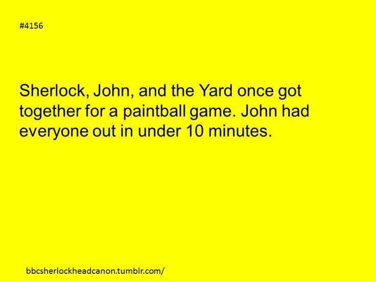 Sherlock paintball headcannon