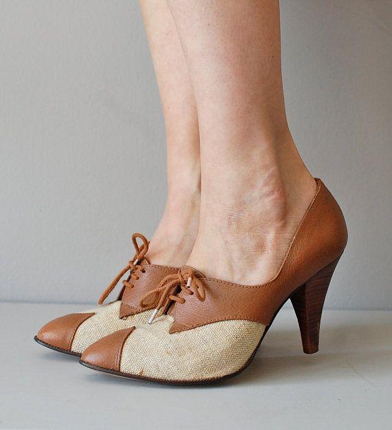 zapatos Oxford / Oxford de tacón / zapatos de oxford por DearGolden