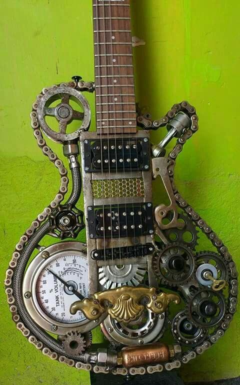 Steampunk Guitar. Wow!
