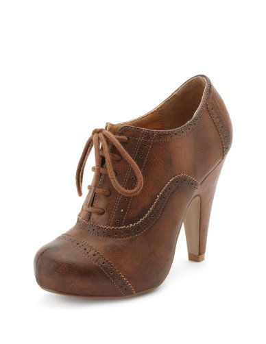 Burnished Oxford Heel. I've been wanting these.