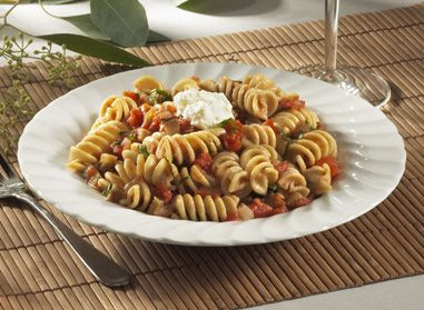 Your family will love this Rotini with Eggplant, Tomatoes and Ricotta recipe. It's perfect for all occasions and delicious from the first to the last bite! #recipe #catelli