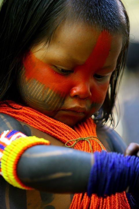 Guarani child. The Guaraní are a group of culturally related indigenous peoples of South America.