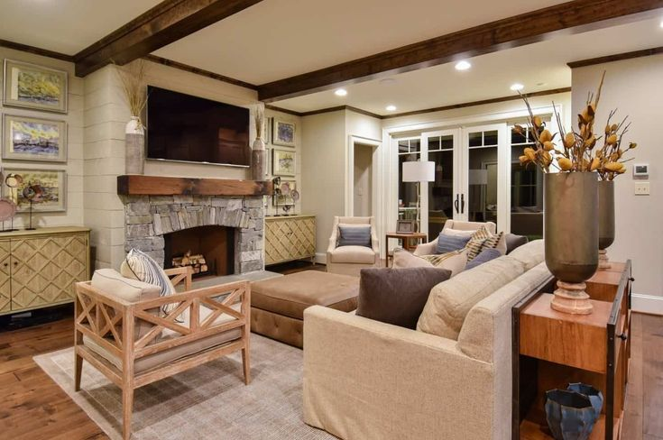 40 Craftsman-Style Living Room Ideas (Photos)