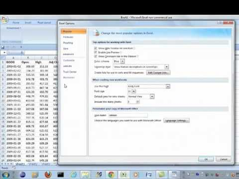 Finance in Microsoft Excel  - Import Yahoo Finance Historical Stock Prices in Excel