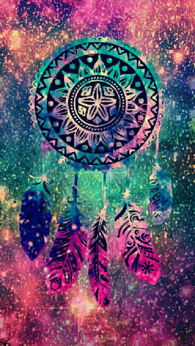 Vintage dreamcatcher galaxy wallpaper I created for the app CocoPPa.