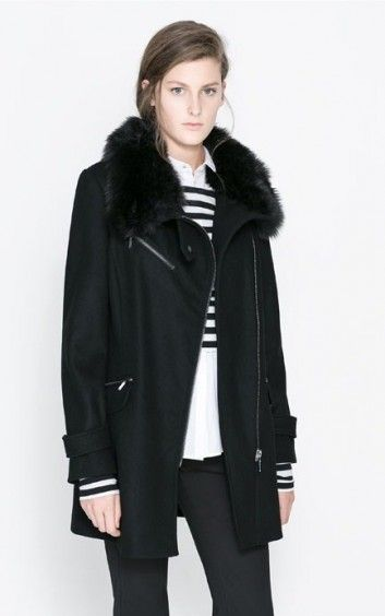 Fur Collar Zipper Thick Outwear-42.90FREE SHIPPING