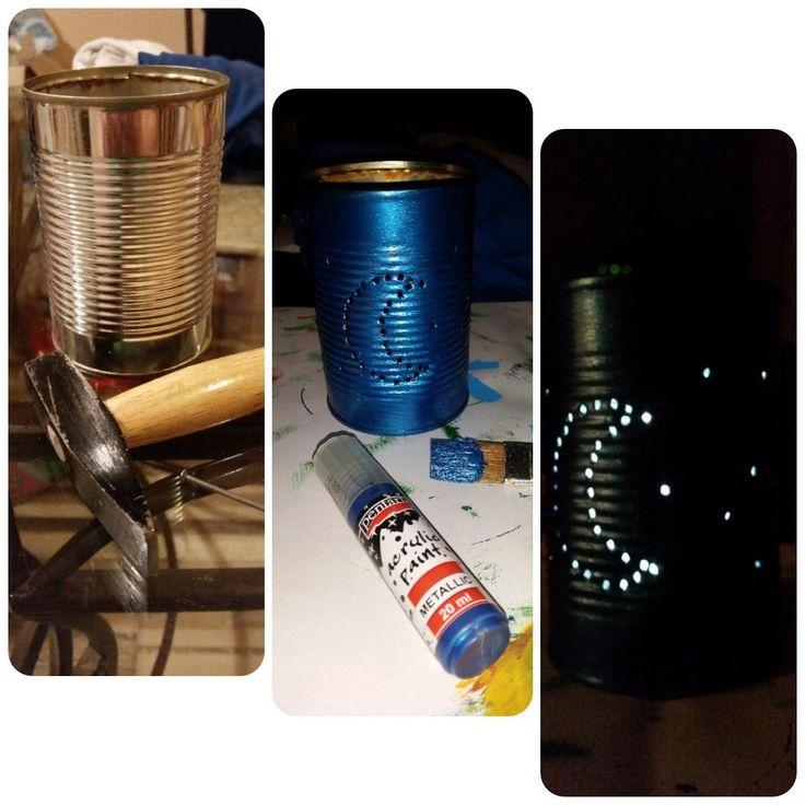 Tin can lantern / Konzervdoboz lámpás