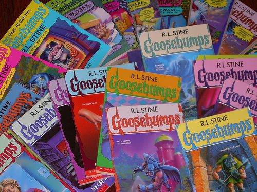 I love Goosebumps but in Germany the books aren't that colorful! They're all blue.