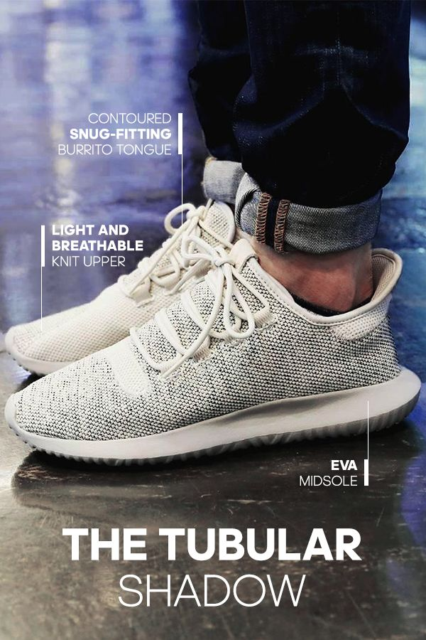 """Enjoy stylish simplicity in the adidas Tubular Shadow Casual Shoes. With a super light and breathable knit upper, """"burrito"""" tongue for a snug fit and rope laces, these shoes show a new take on streetwear style."""