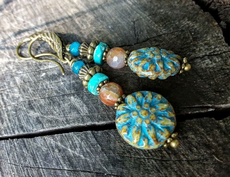 Boho earrings.