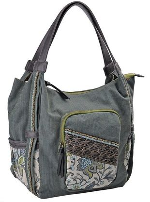 Journie's Miami Chic Hobo is a statement piece for all boho lovers. Featuring our light green tone denim base and beautiful flower print this bag is set off by the criss-cross design of the front pocket along with the dark grey vinyl details.