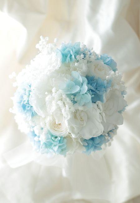 新郎新婦様からのメール プリザーブドブーケ、椿山荘様へ ドレスの次に大事なのはブーケ