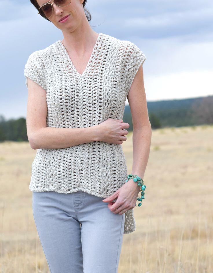 Topcho crocheted shirt - free pattern