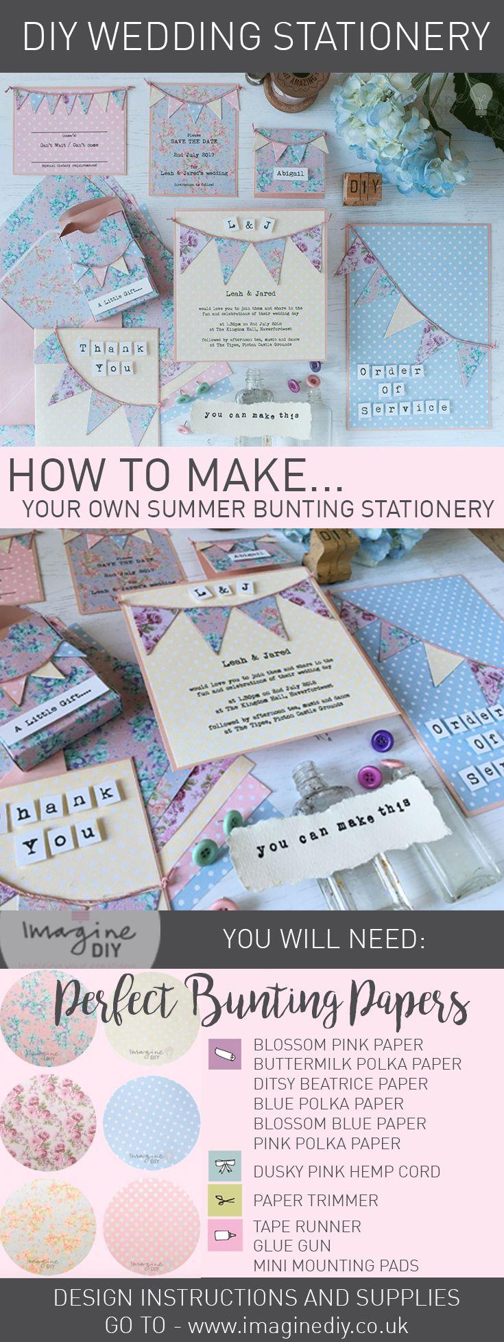 Summer Bunting Wedding Stationery 458 best Vintage