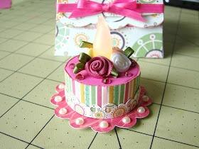Crafts-n-Cards Cricut Corner: Tealight cake and box set